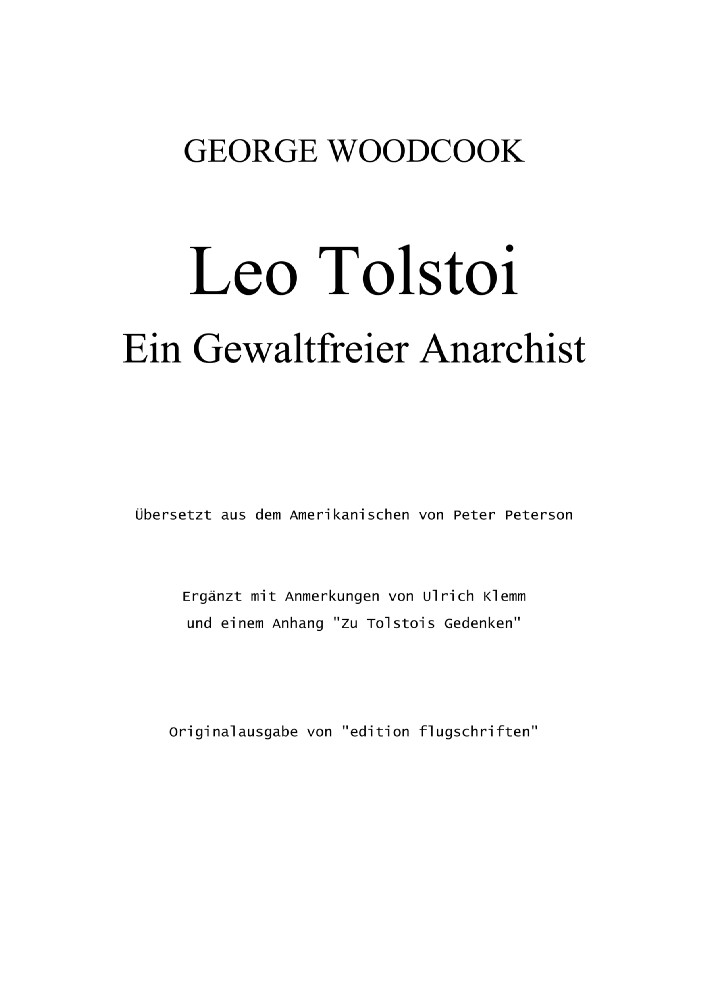 tolstoi essays anarchism Visions of society martin buber & leo tolstoy: two examples of spiritual anarchism patrick cannon articulates an alternative anarchism i would like to present for your consideration two interesting and peculiar versions of anarchism, as articulated by the german-israeli existentialist and social thinker martin buber (1878-1965) and the reclusive russian novelist leo tolstoy (1828-1910.